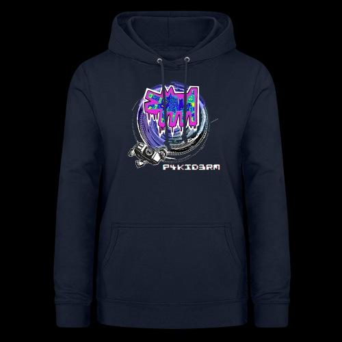 p4kid3rm colored logo - Felpa con cappuccio da donna