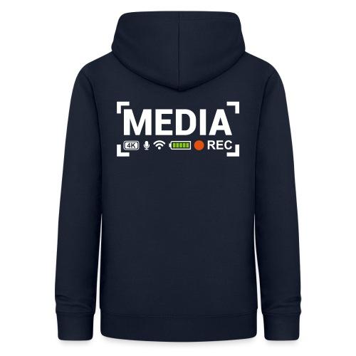 MEDIA Crew - Felpa con cappuccio da donna