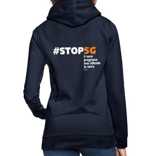 Linea Stop5G con frase - Felpa con cappuccio da donna
