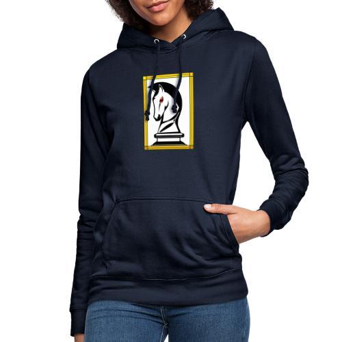 cavallo Scacchi Alternativo2 - Felpa con cappuccio da donna