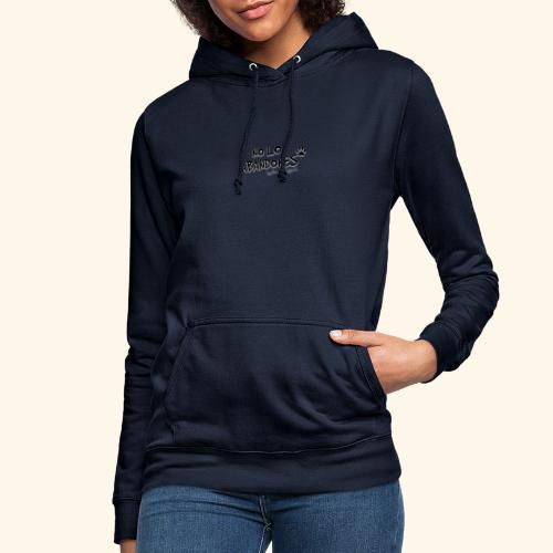 noloabandones negro - Sudadera con capucha para mujer