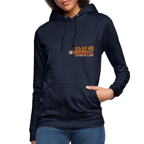 DKS SYNTH LAB Flat Orange-Orange - Felpa con cappuccio da donna