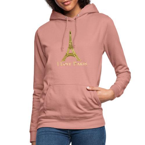 Design Paris I love paris - Sweat à capuche Femme