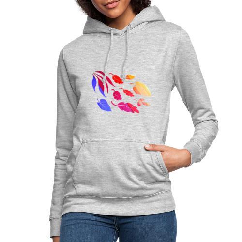 Natur Blätter Regenbogen - Frauen Hoodie
