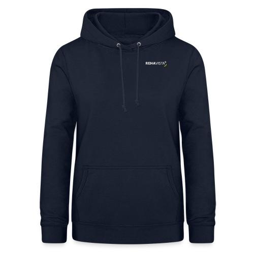 rehavista-logo-weiss-grue - Frauen Hoodie