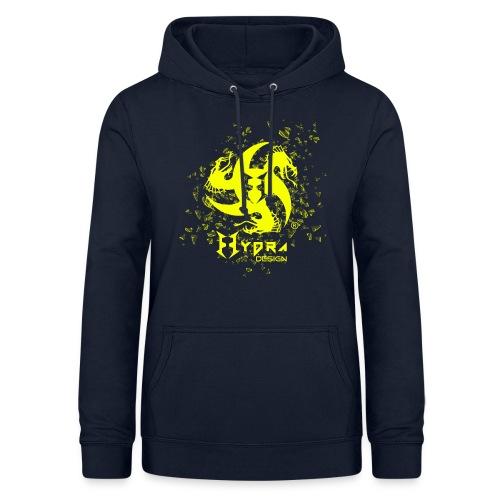 Hydra Design - logo glass explosion - Felpa con cappuccio da donna