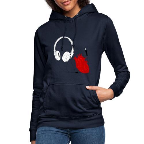 Heart beat. - Bluza damska z kapturem
