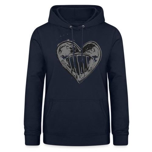 Corazón Negro - Sudadera con capucha para mujer