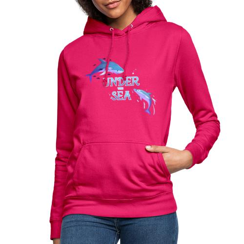 Under the Sea - Shark and Dolphin - Women's Hoodie