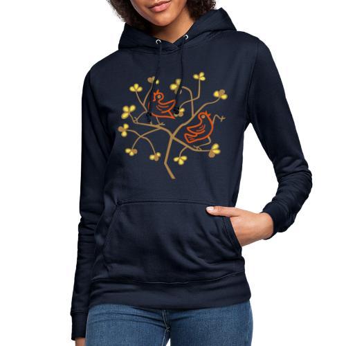 Uccelli sul ramo - Felpa con cappuccio da donna