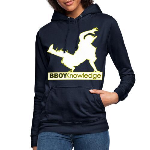 Bboy Knowledge Logo Yellow&White - Sweat à capuche Femme