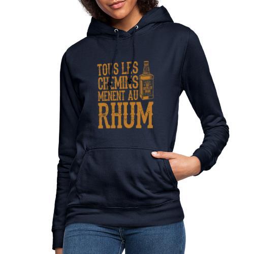 Alcool - Tous les chemins mènent au Rhum - Sweat à capuche Femme