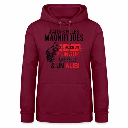 J'AI DEUX FILLES MAGNIFIQUES Best t-shirts 25% - Sweat à capuche Femme