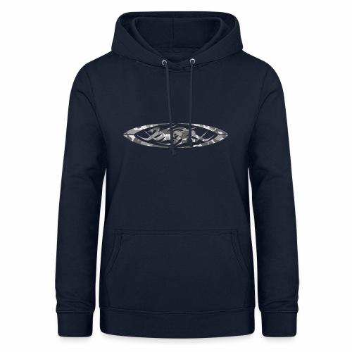 2wear original logo cammo grey - Dame hoodie