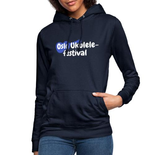 Festival logo hvit - Hettegenser for kvinner