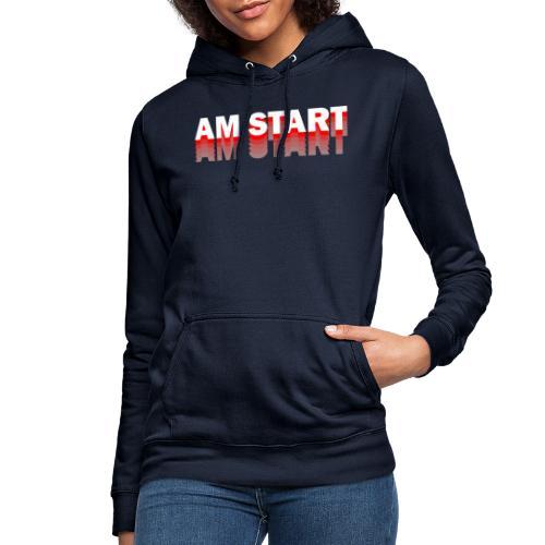 am Start - rot weiß faded - Frauen Hoodie