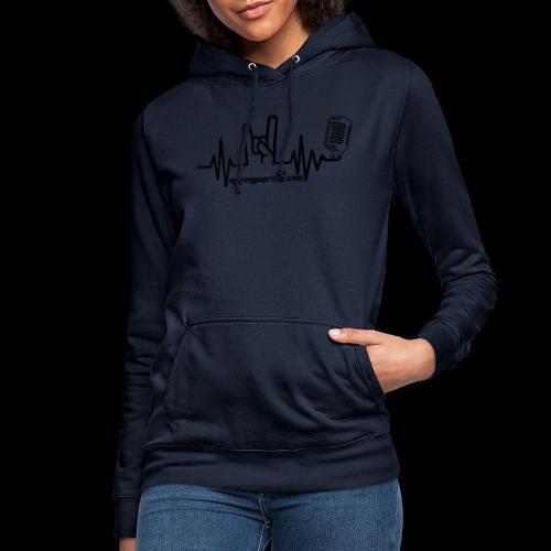 Logo + site noir - Sweat à capuche Femme
