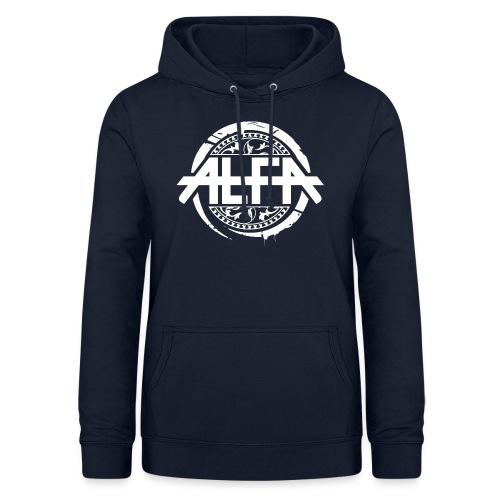 Alfa Logo weiss - Frauen Hoodie
