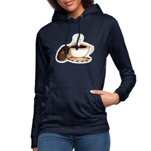 Kaffee und Donut - Frauen Hoodie