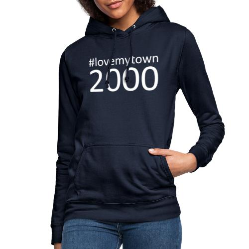 lovemytown2000wit - Vrouwen hoodie