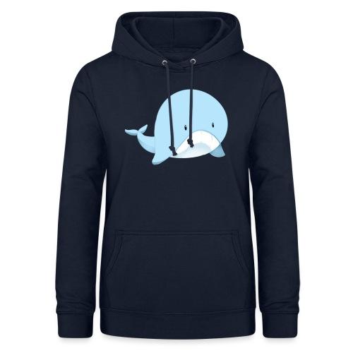 Whale - Felpa con cappuccio da donna