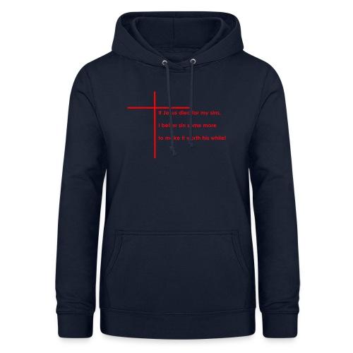 jesus red - Dame hoodie