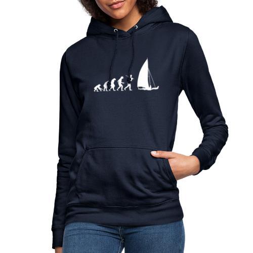 evolution sailboat - Felpa con cappuccio da donna