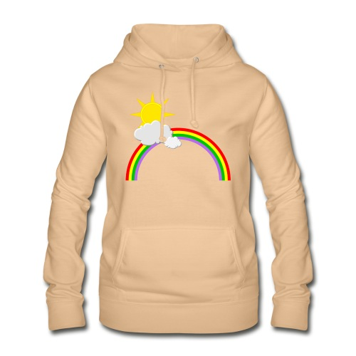 Regenbogen, Sonne, Wolken - Frauen Hoodie