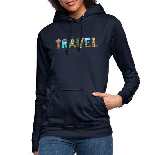 TRAVEL WORD - Sudadera con capucha para mujer