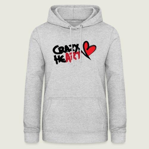 crazyheart - Felpa con cappuccio da donna