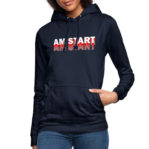 am Start - rot weiß faded - Frauen Hoodie