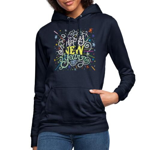 Colorful Happy New Year 2019 Greetings - Sweat à capuche Femme