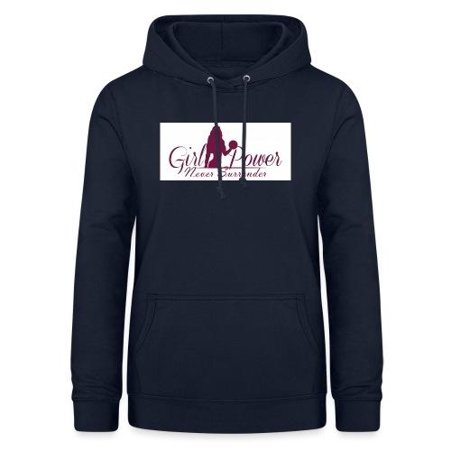 GIRL POWER NEVER SURRENDER - Sudadera con capucha para mujer