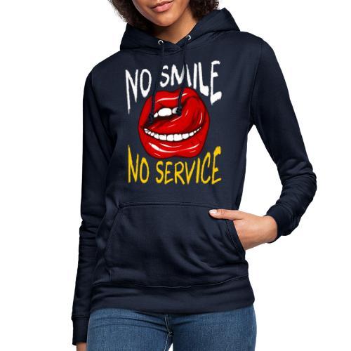 No Smile No Service - Luvtröja dam