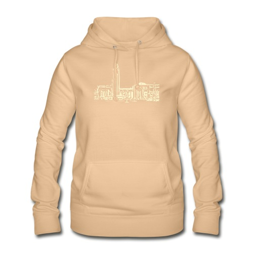Helsinki railway station pattern trasparent beige - Women's Hoodie