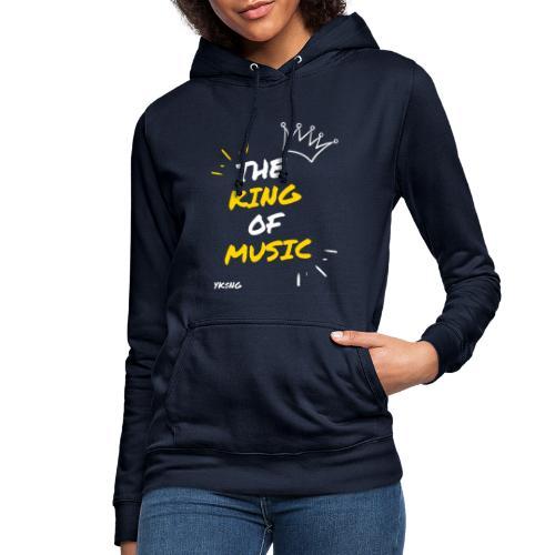 The king Of Music - Sudadera con capucha para mujer