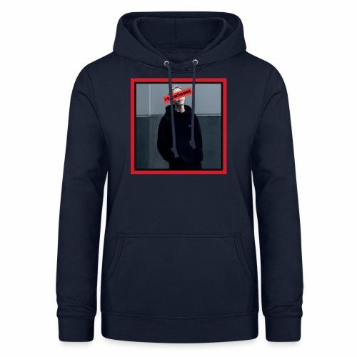 HB #1 red&black box - Felpa con cappuccio da donna