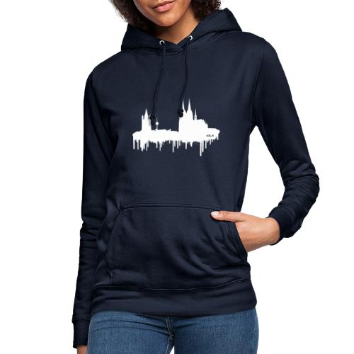 Skyline Köln - Weiß - Frauen Hoodie