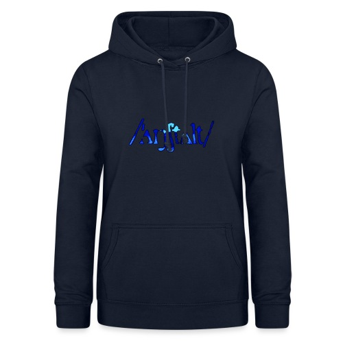 /'angstalt/ logo gerastert (blau/schwarz) - Frauen Hoodie