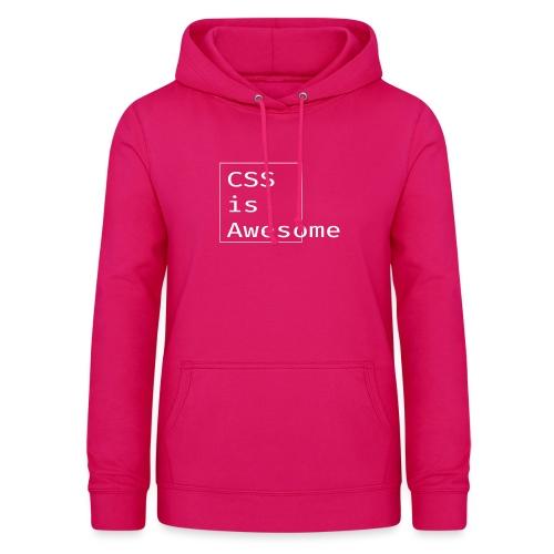 cssawesome - white - Vrouwen hoodie