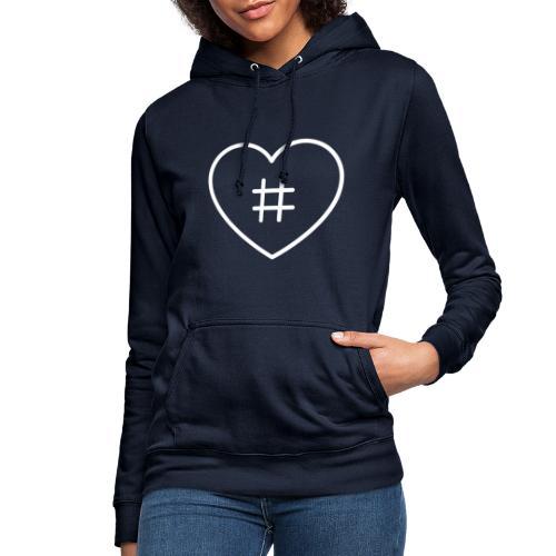 Hashtag Herz - Frauen Hoodie