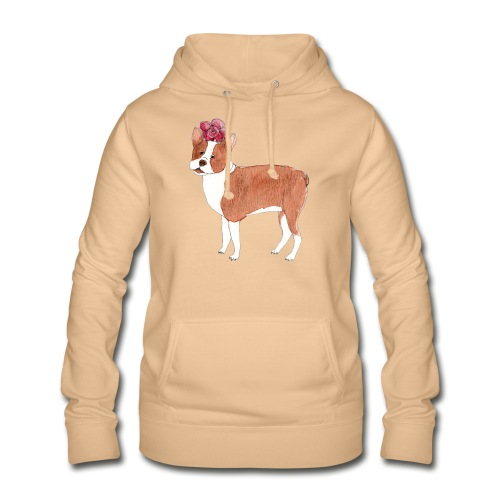 boston terrier with flower - Dame hoodie