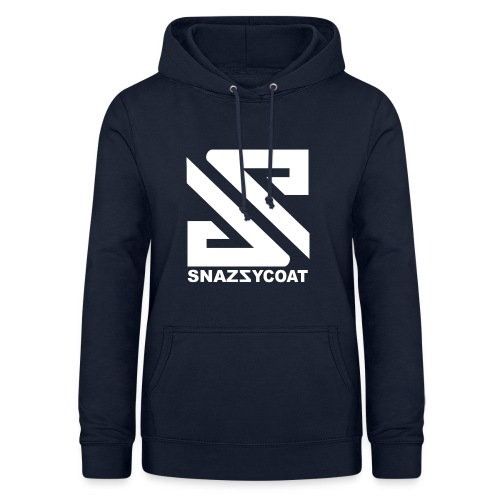 logo snazzycoat wit merch - Vrouwen hoodie
