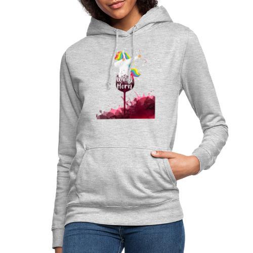Weinhorn Splash Einhorn Design - Frauen Hoodie