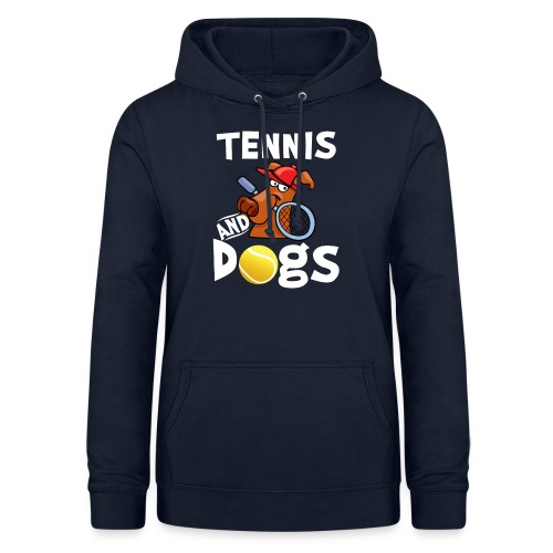 Tennis And Dogs Funny Sports Pets Animals Love - Frauen Hoodie
