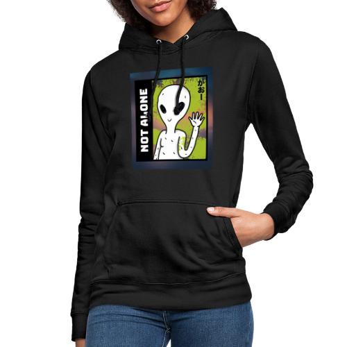 alien t shirt design maker featuring a smiling ali - Dame hoodie