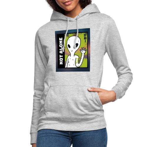 alien t shirt design maker featuring a smiling ali - Dame hoodie