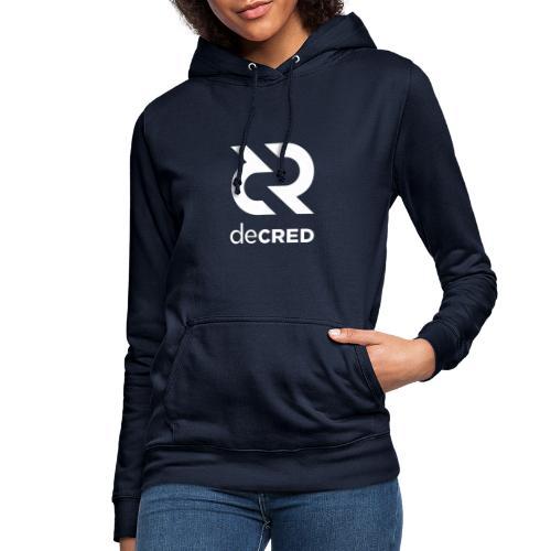 Decred logo vertical white - Vrouwen hoodie