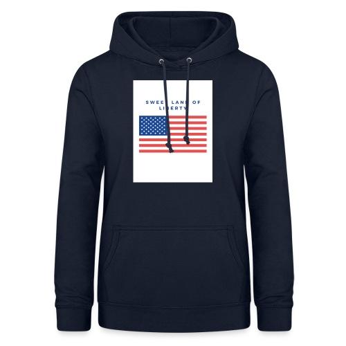 drapeau usa - Sweat à capuche Femme