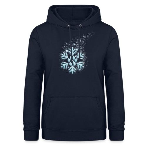 Vorschau: dog paw snowflake - Frauen Hoodie